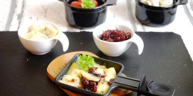 Raclettepfännchen Birne Gorgonzola