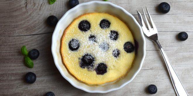 Ofen-Pfannkuchen mit Blaubeeren aus meinem Thermomix