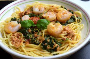 Spaghetti mit Garnelen aus meinem Thermomix
