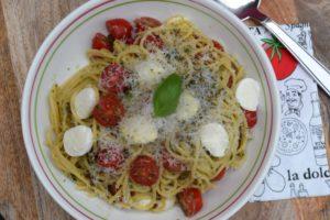 Spaghetti caprese Thermomix