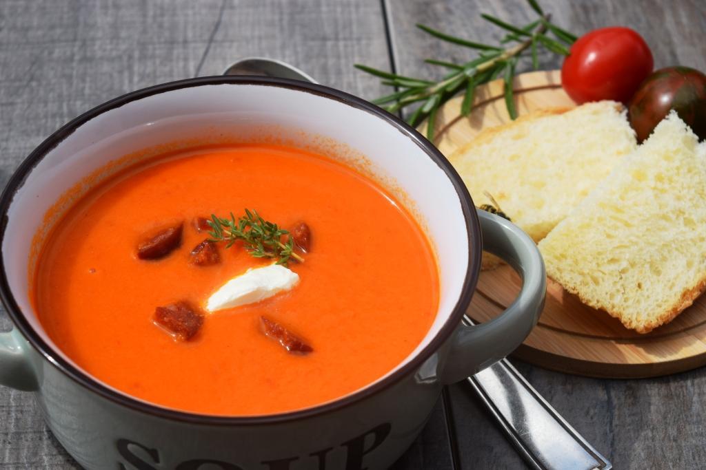 Paprika-Rahm-Suppe aus meinem Thermomix